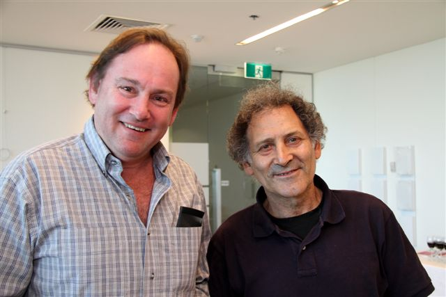 Jonathan Taft (left) and Arnold Zable