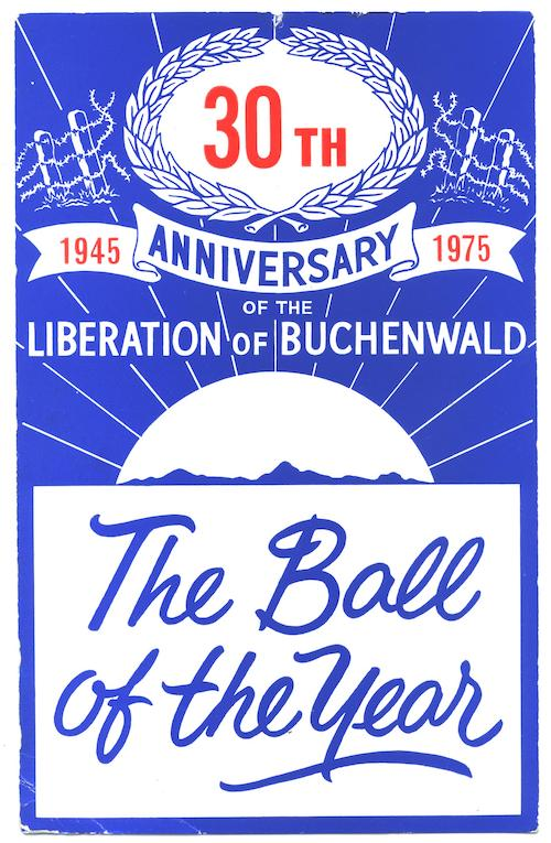The Ball of the Year – Invitation to 30th Anniversary Buchenwald Ball