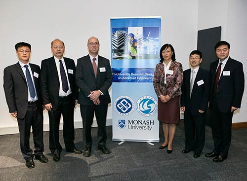 Senior academics from Monash and partner universities; Central South University and Wuhan University of Technology