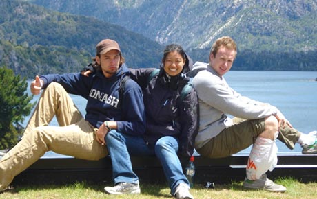Natalie Khoo and friends in Argentina
