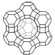 Framework of zeolite Y