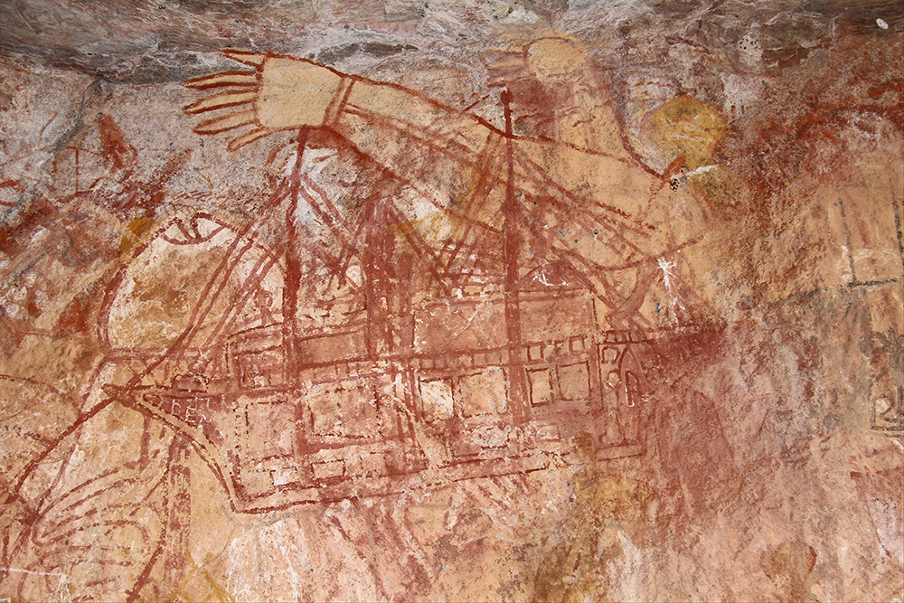 Indigenous painting on wall from between 1765-1813