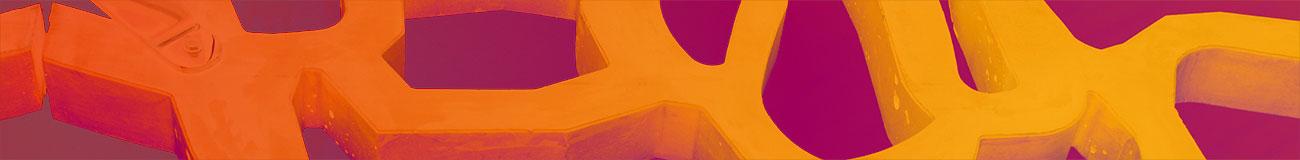 Concrete tentacles orange purple