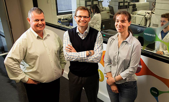 (from left to right) Professor Ben Boyd, Chris Porter, and Dr Lisa Kaminskas