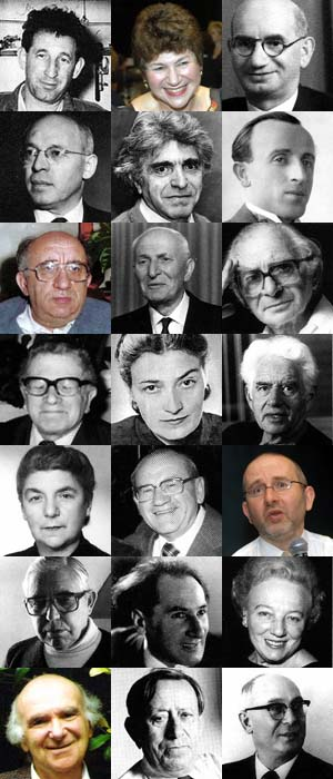 Collage of photographs of people who contributed significantly to Yiddish Melbourne