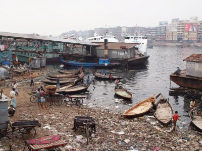 The Buriganga River in Dhaka, Bangladesh