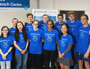 Image of a group of Monash students