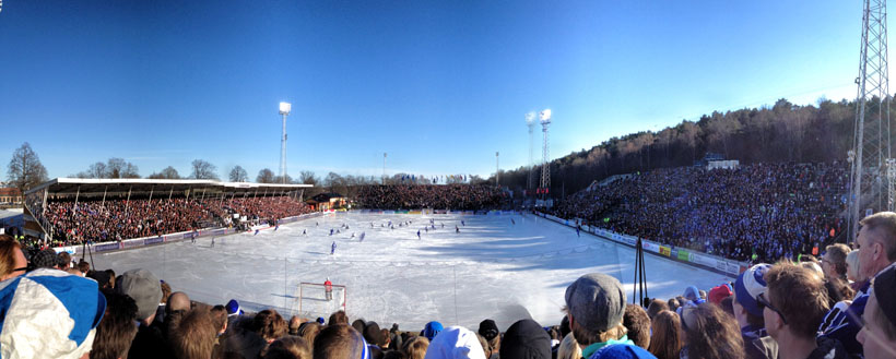 Bandy Final at NCC Studenternas IP arena in Uppsala, Sweden