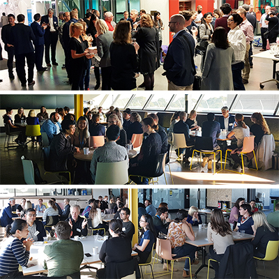 Photos from the Group Leader networking event and the ECR breakfast.