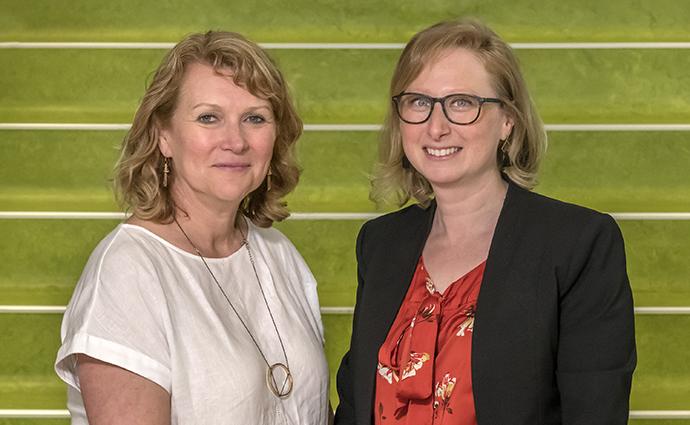 L-R: Associate Professor Elizabeth Davis and Associate Professor Michelle Lazarus.