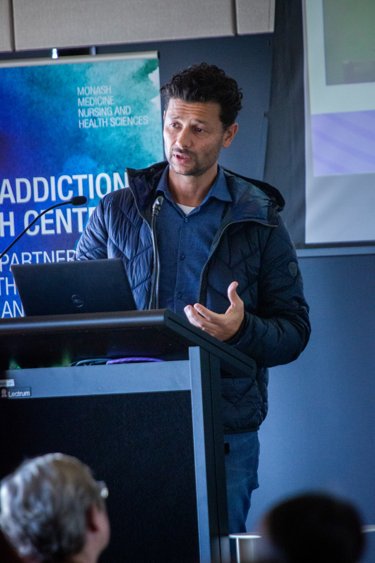 Prof Murat Yucel presenting at the MARC 2019 Symposium