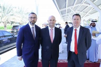 Arthur Spyrou, Australian Ambassador to UAE and Qatar, Mr Dean Pyrah, Principal of VISS,  and Professor John Loughran, Dean of Education at Monash University.