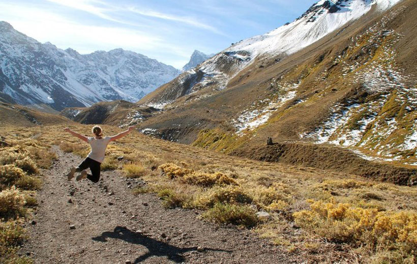 Liza Costello in the mountains of Chile