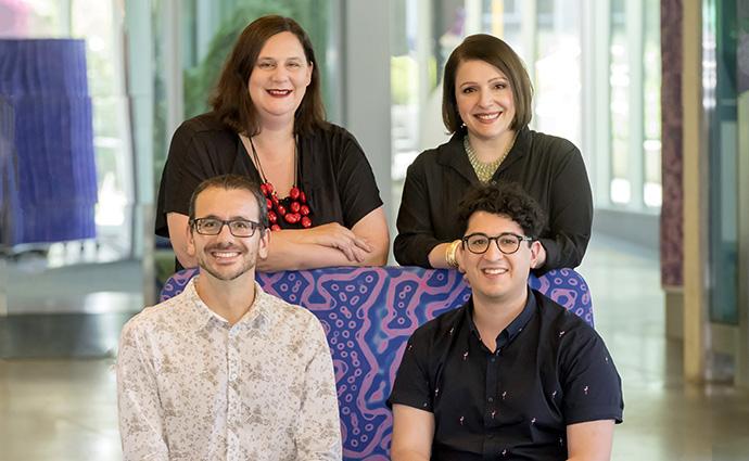 Professor Helen Abud, Professor Dena Lyras, Dr Steven Mileto and Dr Thierry Jardé.