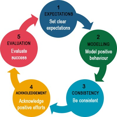 Five-steps of how to implement positive behaviour support strategies