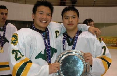 Marcus Wong, left, and a teammate