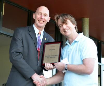 Director of Monash Sport, Martin Doulton, with Club President Trenton Milner