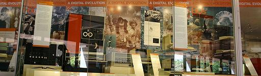 Display cabinet at the Museum of Computing History