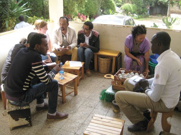 In-country research being conducted by Dr Tori Oliver with health providers in Ethiopia