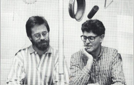 Jeff Pressing and John Whiteoak at La Trobe University, July 1992