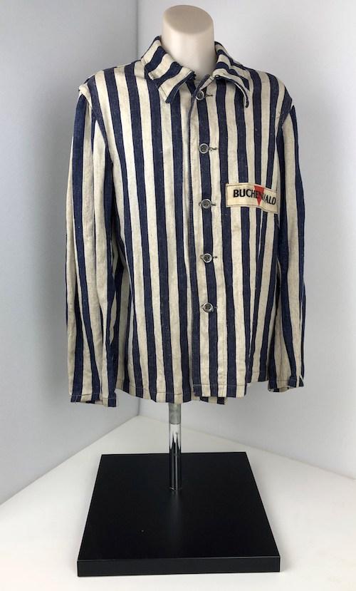 Buchenwald jacket belonging to Charlie Spicer (Chuno Feldspicer).