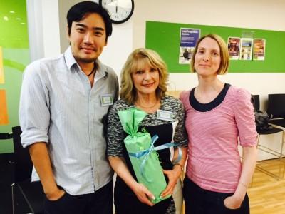Harry Tan, Dr Helen Forbes-Mewett and  Allegra Schermuly.