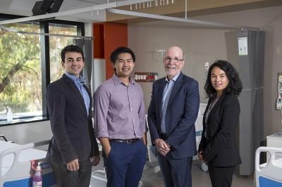 (L-R) Dr Sahhar, Dr Ha, Professor Sievert and Dr Le