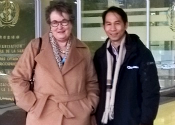 Prof Fisher and Dr Tran in Geneva
